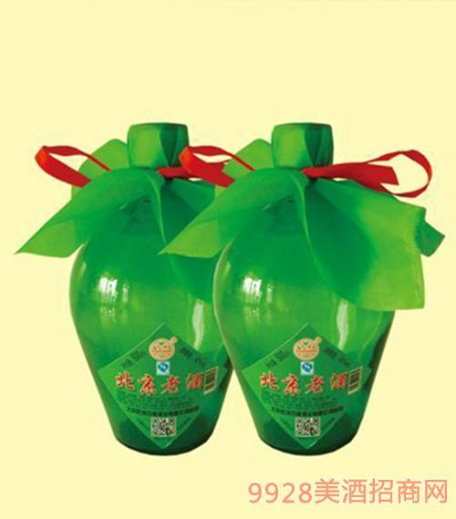 北京老酒磨砂瓶酒42度500mlx6