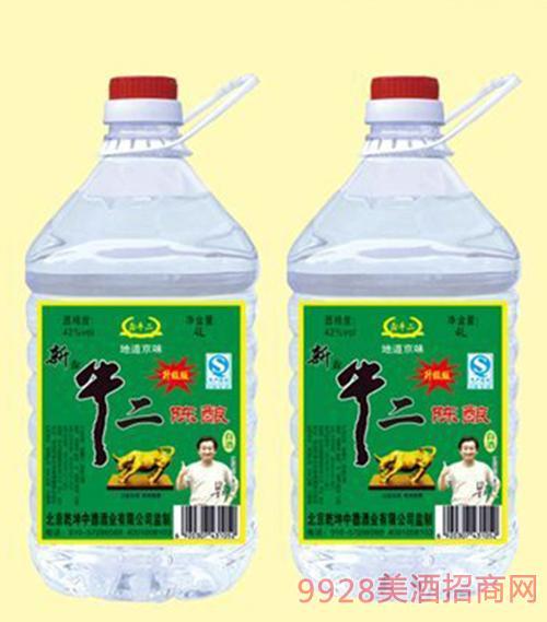 新升级版牛二陈酿酒42度4Lx4