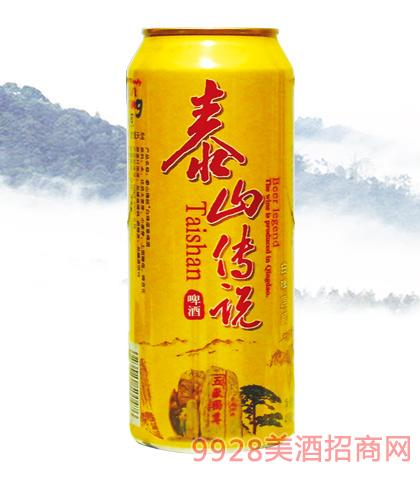 泰山传说白啤易拉罐