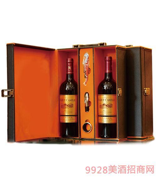 法国马西庄园葡萄酒皮盒