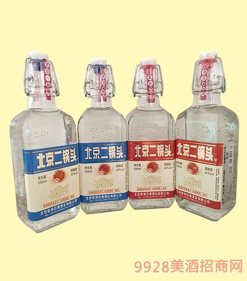 北京二锅头酒(小方瓶)42度500ml