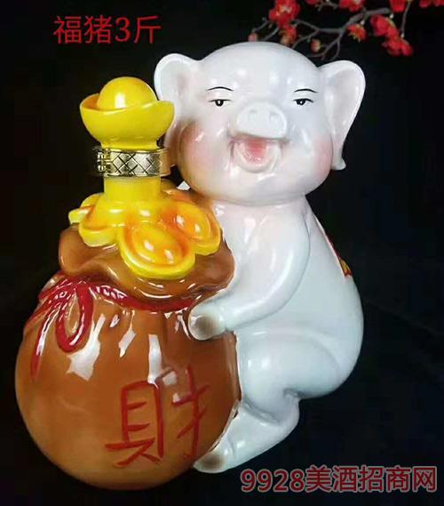 龙图酒业礼品酒福猪3斤