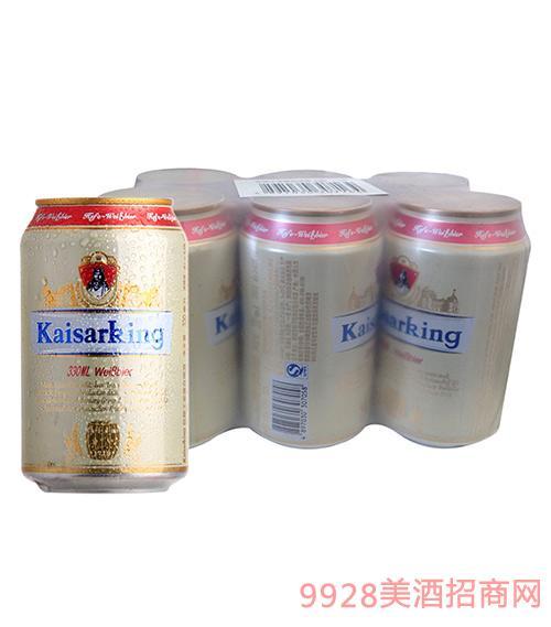 凯撒王白啤酒11°P330ml