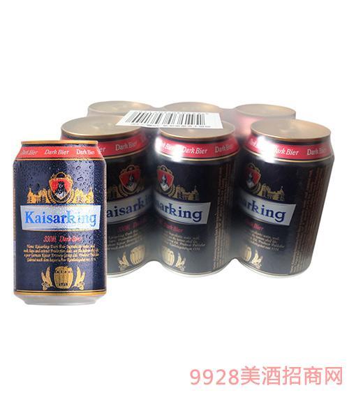凯撒王黑啤酒12°P330ml