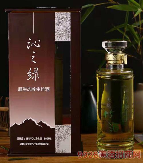 沁之绿原生态养生竹酒38度500ml