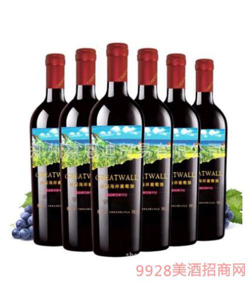 長城海岸精品解百納干紅葡萄酒沙城產區重型瓶