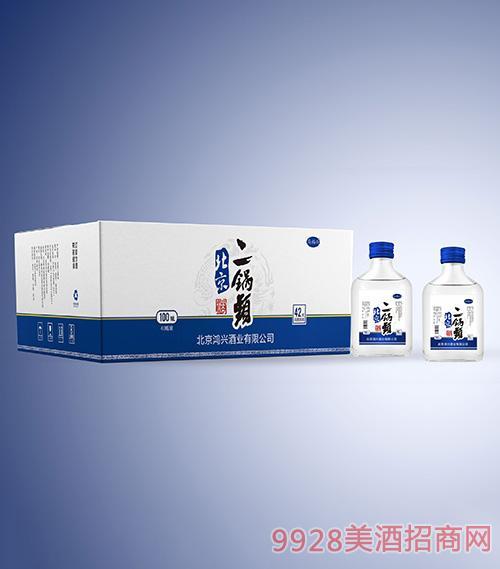 鸿兴北京二锅头(白瓶)42度100ml