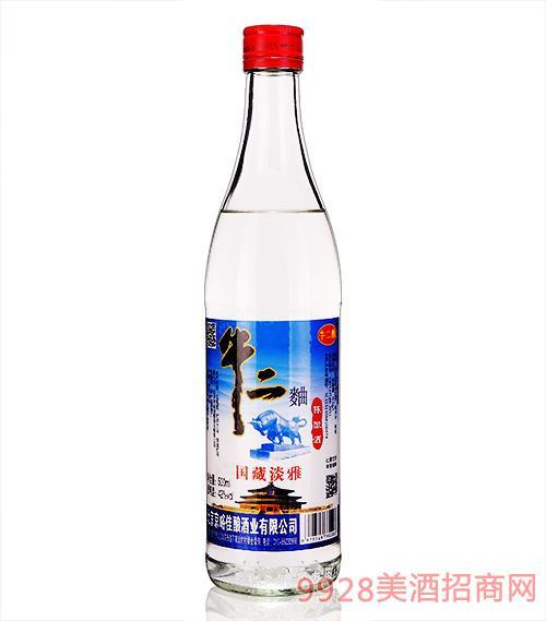 牛二曲陈酿酒-国藏淡雅42度500ml