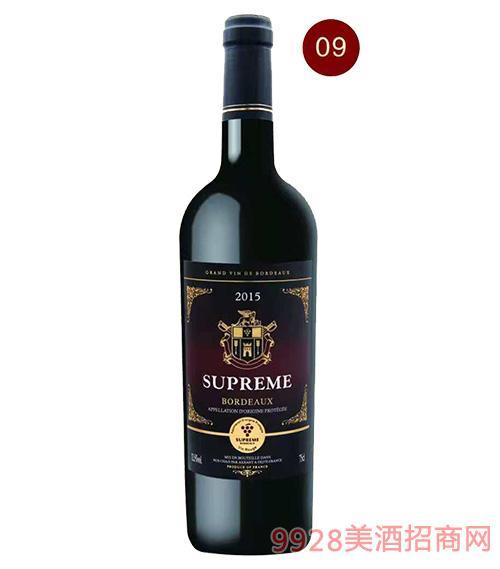 法国苏比尔珍藏红葡萄酒13.5度750ml