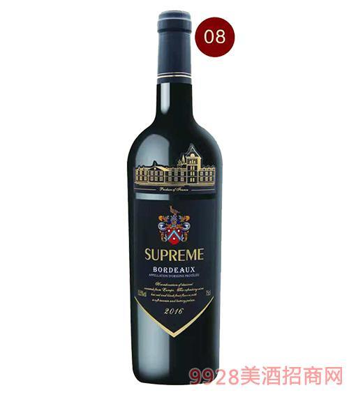 法国苏比尔子爵红葡萄酒13度750ml