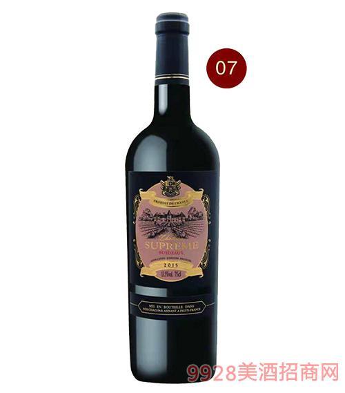 法国苏比尔侯爵红葡萄酒13.5度750ml