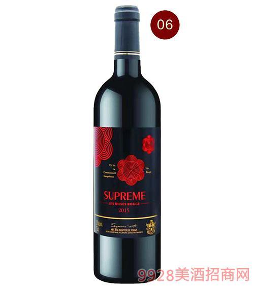 法国苏比尔罗斯鲁红葡萄酒13.5度750ml