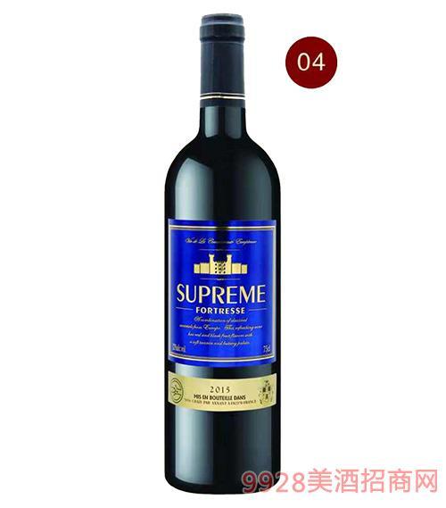 法国苏比尔围城红葡萄酒12度750ml