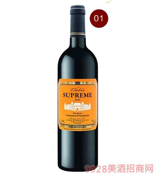 法国苏比尔城堡红葡萄酒13度750ml