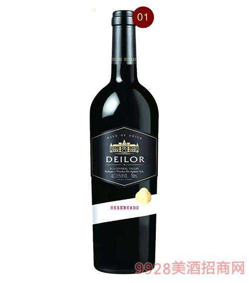 智利蒂罗尔金城之光红葡萄酒13.5度750ml