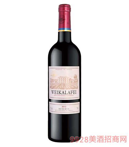 法国威卡古堡干红葡萄酒13度750ml
