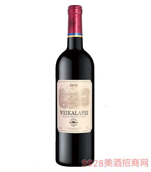 法国威卡拉菲梅洛干红葡萄酒2010-13度750ml
