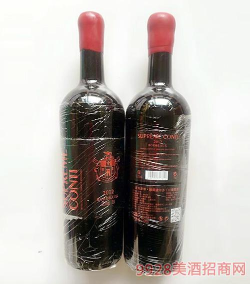 至尊康帝珍藏波尔多干红葡萄酒13.5度750ml