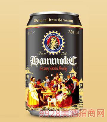 德国汉姆蕾顿全麦精酿黑啤酒330ml