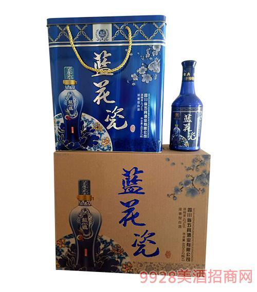 五宾蓝花瓷酒42度480mlx2x3