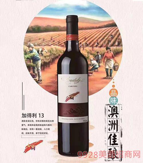 澳洲加得利13干红葡萄酒
