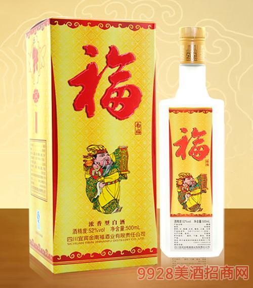 南福浓香型白酒(福)52度500ml