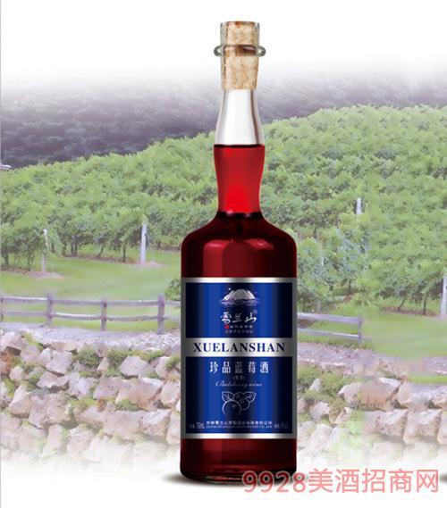 雪兰山·珍品蓝莓酒4度750ml