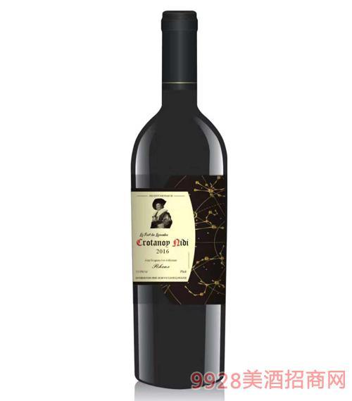 进口红酒干红葡萄酒13.5度750ml