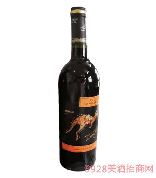 进口红酒袋鼠750ml