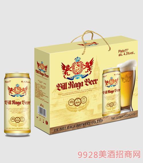 11度比尔拉格白啤10罐500ML带绳