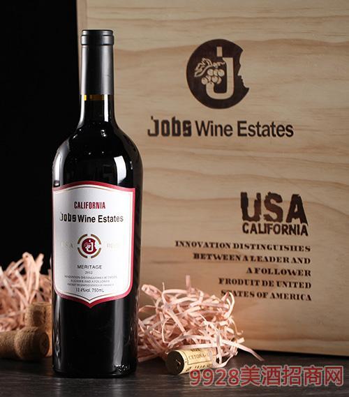 乔布斯纳帕2014干红葡萄酒