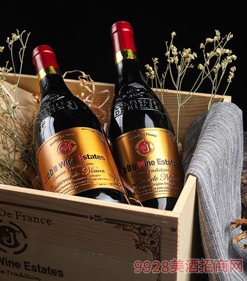 乔布斯尼姆干红葡萄酒