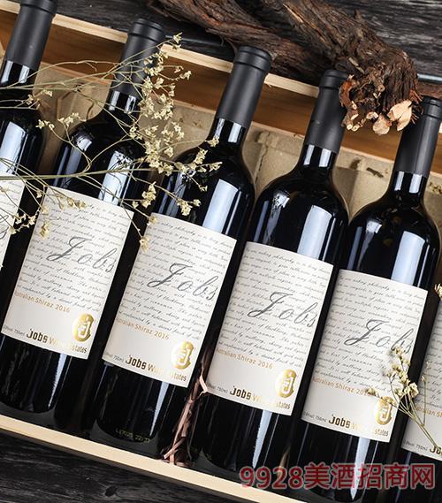 乔布斯老藤西拉干红葡萄酒