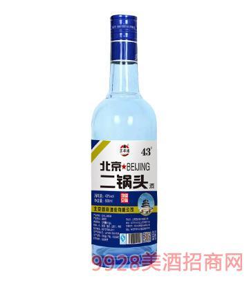 京华楼北京二锅头(蓝瓶)43度500ml