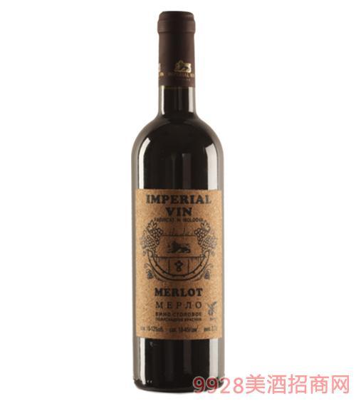 墨尔乐半甜红葡萄酒750ml