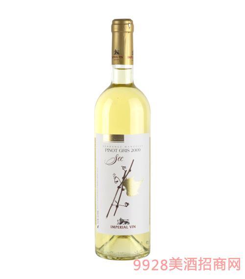 灰比诺自然干白葡萄酒750ml(软木塞)