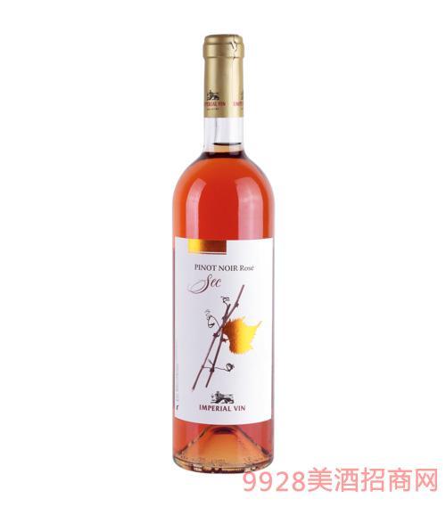 粉红色黑比诺干葡萄酒750ml(软木塞)