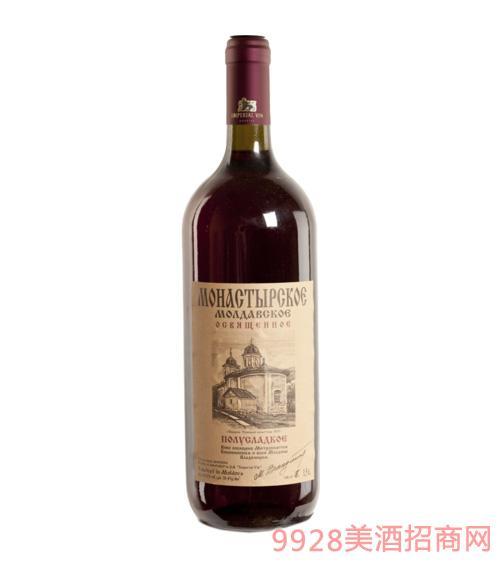 摩尔多瓦寺院粉红色半甜葡萄酒1500ml