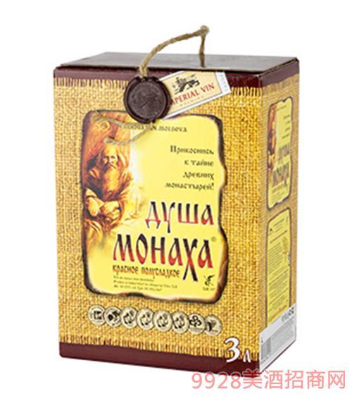 僧侣之心灵自然半甜红葡萄酒3L