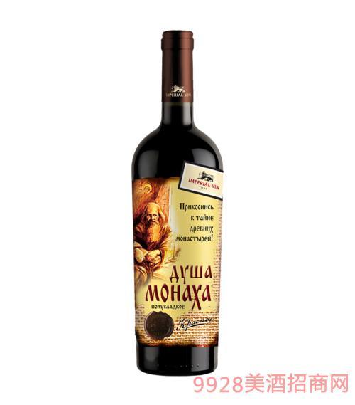 僧侣之心灵自然半甜红葡萄酒750ml