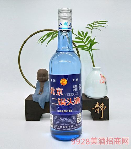 牛洱泉北京二锅头蓝瓶52度500ml