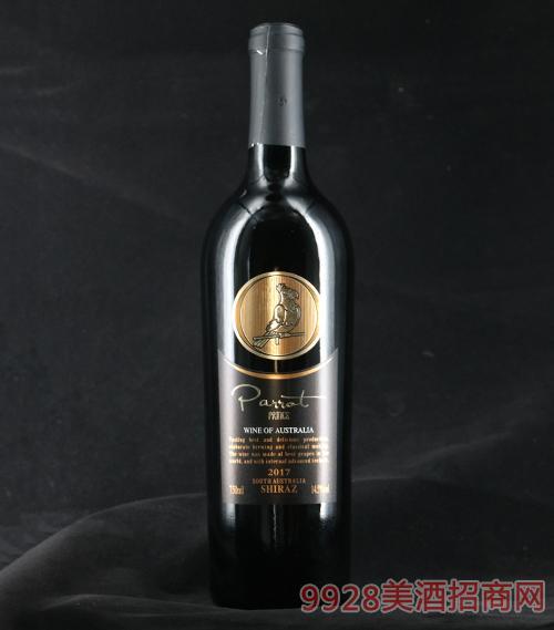 澳大利亚鹦鹉王子西拉干红葡萄酒14.5度750ml