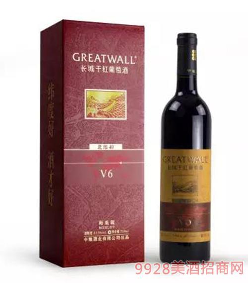 长城北纬40度V6解百纳干红葡萄酒