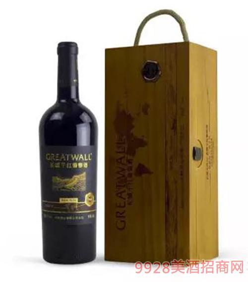 长城北纬典藏梅鹿辄干红葡萄酒