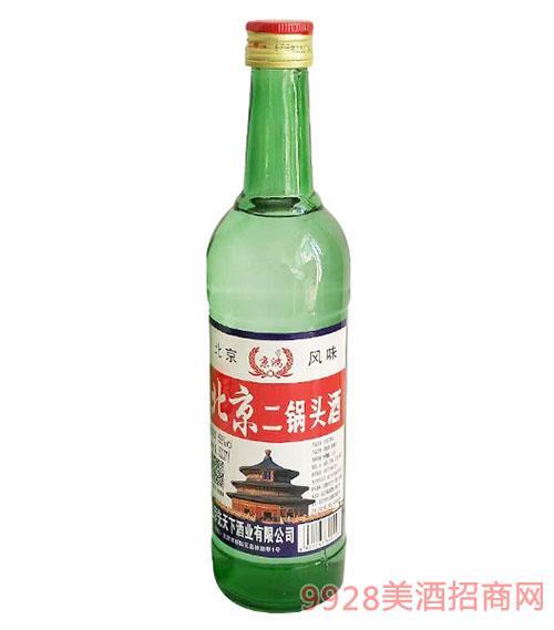 京鸿北京二锅头酒500ml56度绿瓶