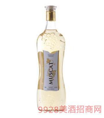 醉美慕斯卡甜型白葡萄酒750ml