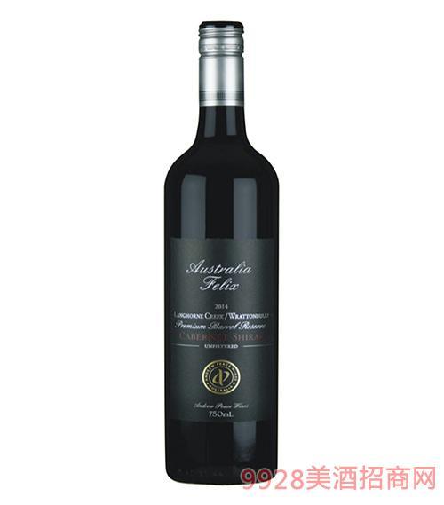 澳大利亚菲利斯浪虹小溪拉顿布里珍藏级赤霞珠西拉干红葡萄酒750ml