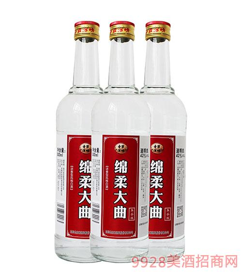 老庄家绵柔大曲酒(五谷版)42度500ml