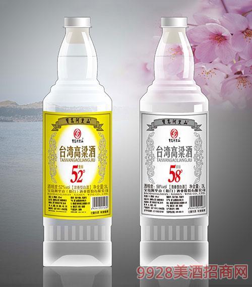 宝岛阿里山台湾高粱酒52度3L