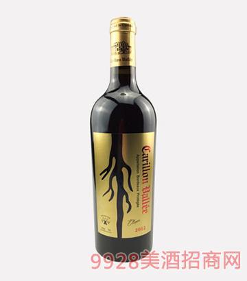法国风铃谷酒庄百年老藤干红葡萄酒2012
